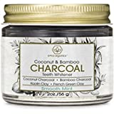 Natural Activated Charcoal Teeth Whitening - (2oz.) Premium Organic Coconut & Bamboo Tooth Whitener Oral Powder with Kaolin Clay, Bentonite Clay, Peppermint & More for Brighter Smile & Healthier Gums