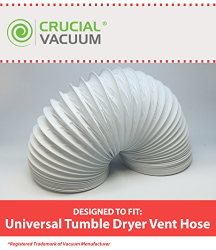 UPC 701980794612 - Highly Durable Universal Tumble Dryer Vent Hose; 4 meter Length & 102 mm Diameter; Designed & Engineered by Crucial Vacuum