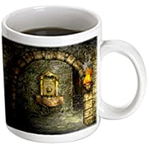 3dRose mug_11908_3 A Medieval Room Features An Enchanted Fountain As a Torch Burns Nearby Magic Transforming Mug, 11-Ounce