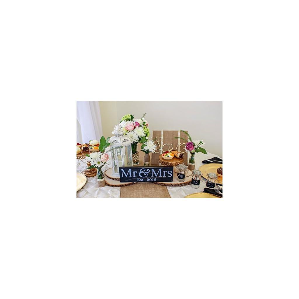 Craftwize Mr & Mrs Sign – Newlywed Wedding Gift (LARGE)