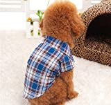 Dogs Kingdom Clasic Casual Dog Plaid Shirt Gentle Dog Western Shirt Dog Clothes Dog Shirt Puppy Polo Shirt