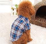 Dogs Kingdom Clasic Casual Dog Plaid Shirt Gentle Dog Western Shirt Dog Clothes Dog Shirt Puppy Polo Shirt
