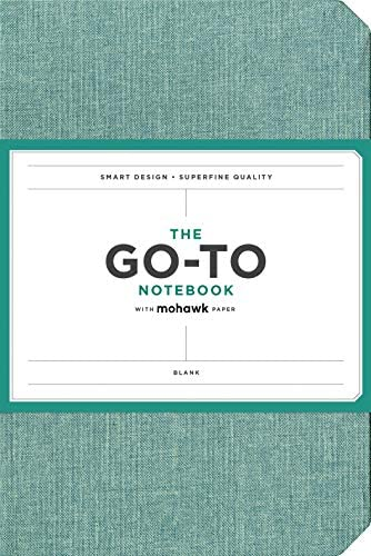 Go-to Notebook with Mohawk Paper, Sage Blue Blank (Simple Blank Page Notebook, Lay Flat Productivity Journal)