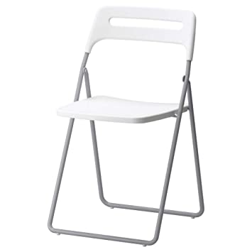 IKEA ASIA Nisse Silla Plegable Plata-Color Blanco: Amazon.es ...