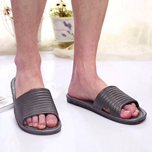 Qianle Floor Unisex Grey Slip House Slipper Slipper Indoor Anti Sandal Bath OO8wxnrgq