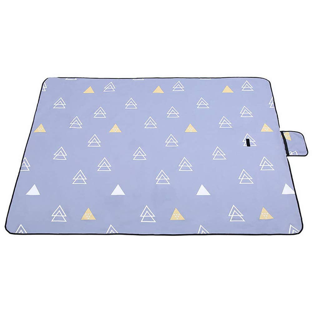 HWShop Extra Large Folding Picnic Blanket Waterproof Backing Travel Travel Travel Picknick Rug Portable Feuchtigkeit Proof Pad Washable Rasenmähen für Outdoor, Strand, Camping mit Griff B07PPR37JJ | Sonderkauf