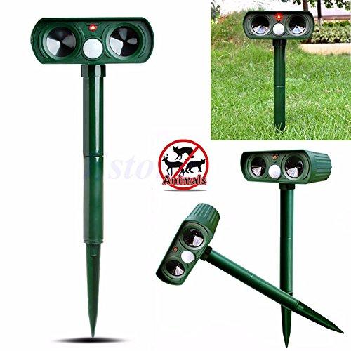 Amrka Ultrasonic Solar Power Pest Animal Repeller Repellent Garden Cat Dog Fox Outdoor (Bell And Howell Solar Animal Pest Repeller)