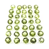 Be You Light Green Natural Chinese Peridot AAA Quality 1.5 mm Brilliant Cut Round Loose gemstone