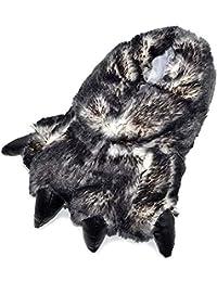 NORTY Grizzly Bear - Pantuflas para niños y Adultos con diseño de Garra de Animal