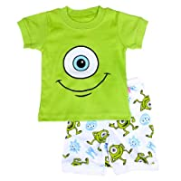 """Big Eyes "" Boys Shorts 2-Piece Pajama Set 100% Cotton"