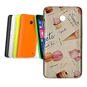 Phone Case For Nokia Lumia 630 - Sweets & Desserts Lightweight Cover wangjiang maoyi