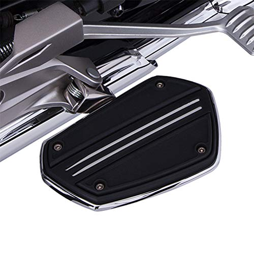 Goldstrike Twin Rail Floorboards with Driver Adapter (pair) (chrome) for Gold Wing