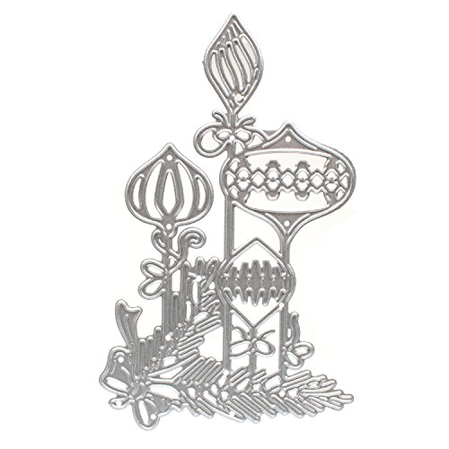 Metal Cutting Dies Butterfly Bow Lamp Border Scrapbooking Die Cut Stamps Stencils Embossing Paper Cards(Butterfly Bow Lamp - Border Bow