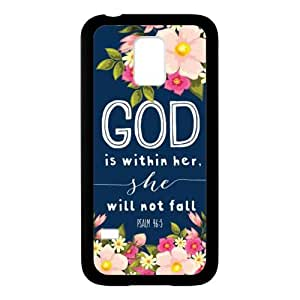 Pretty Look,PSALM 46;5 God is Within Her,She Will not Fall Bible Verse SamSung Galaxy S5 mini TPU (Laser Technology) Case