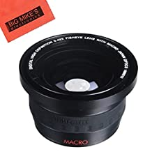 58mm 0.42X Super Wide Fisheye Lens For Canon Digital EOS Rebel SL1, T1i, T2i, T3, T3i, T4i, T5, T5i EOS60D, EOS70D, 50D, 40D, 30D, EOS 5D, EOS5D Mark III, EOS6D, EOS7D, EOS7D Mark II, EOS-M Digital SLR Cameras Which Has Any Of These Canon Lenses 18-55mm IS II, 18-250mm, 55-200mm, 55-250mm, 70-300mm f/4.5-5.6, 75-300mm, 100-300mm, EF 24mm f/2.8, 28mm f/1.8, 28mm f/2.8, 50mm f/1.4, 85mm f/1.8, EF 100mm f/2 , EF 100mm f/2.8, MP-E 65mm f/2.8, TS-E 90mm f/2.8