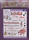 See D's Let's Make Music 20 Rubber Stamps and Case # 50092 Inque Boutique Sugarloaf