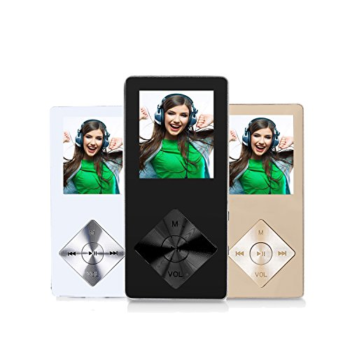 FecPecu Music Player, Metal 8GB MP3 Player 30 Hours Playback