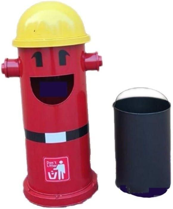 屋外ゴミ箱ホームキッチンインテリア 屋外のごみ箱消火栓スタイリング保育園ゴミ箱ごみ箱クリエイティブキュートストレージごみ箱ごみ廃棄物ごみ箱 屋外ゴミ箱ホームキッチンインテリア (Color : Red, サイズ : 35*88cm)