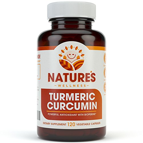 1600mg Turmeric Curcumin w/Bioperine and Black Pepper | Non-GMO | Natural Pain Relief & Joint Support | Highest Potency with 95% Standardized Curcuminoids | Gluten Free | 120 Vegetarian Capsules