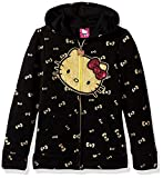 Image of Hello Kitty Little Girls' Zip up Hoodie with Sequin Applique, Black, 5