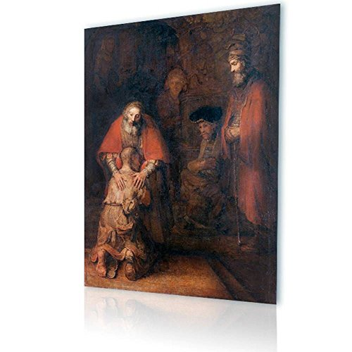 (Alonline Art - Prodigal Son by Rembrandt | print on canvas | Ready to frame (synthetic, Rolled) | 31