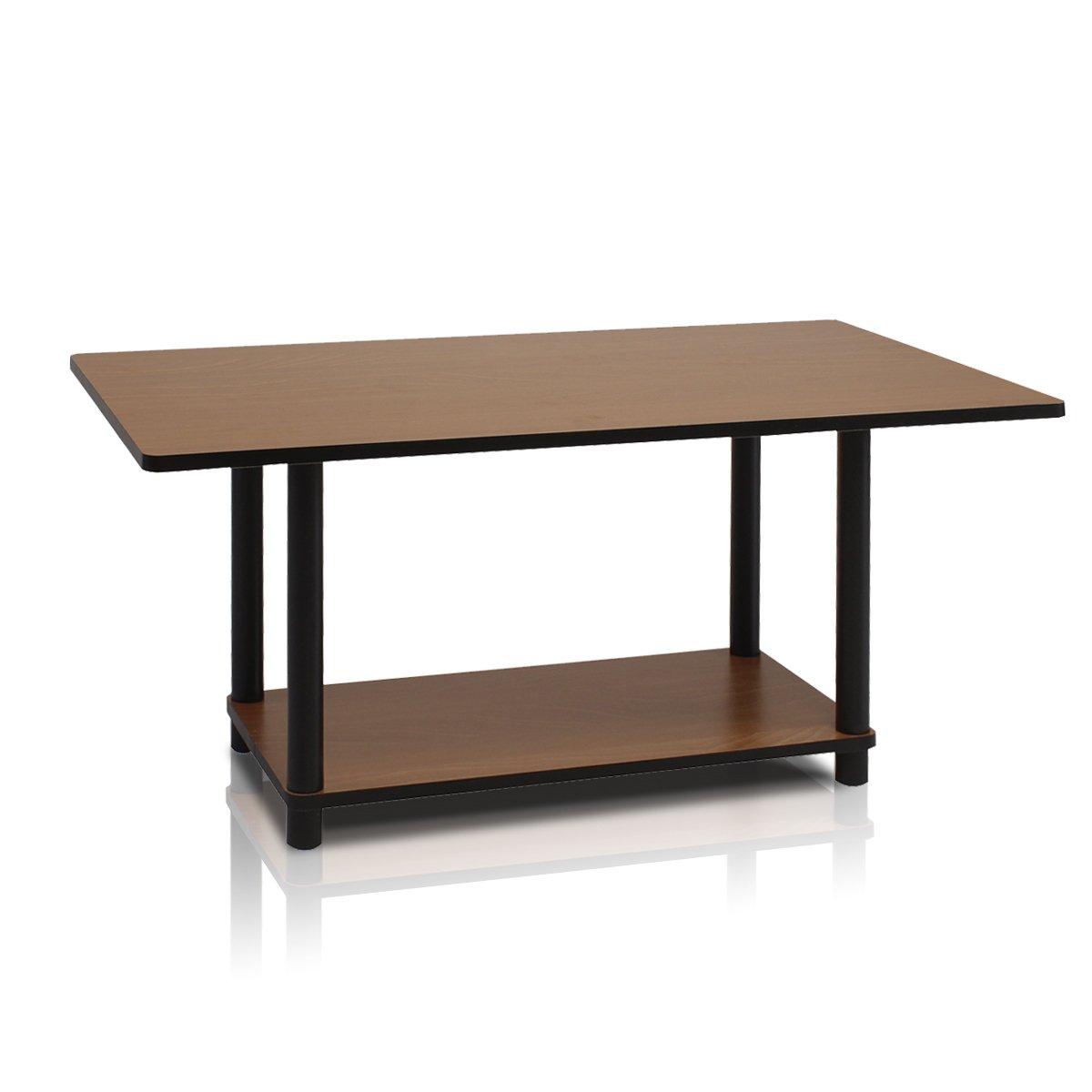 Furinno 99192DC/BK Turn-N-Tube Coffee Table, Dark Cherry/Black