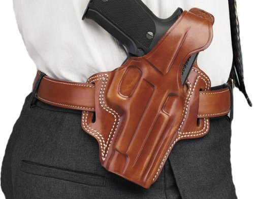 Galco Fletch High Ride Belt Holster for S&W M&P 9/40 (Tan, Right-Hand)