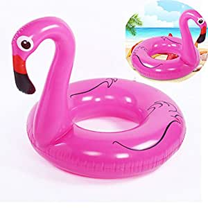 FAFY Inflamables Flamingos Swimming Ring Float Pool ...
