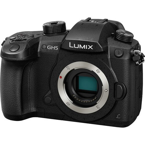 """Panasonic Lumix DC-GH5 Mirrorless Micro Four Thirds Digital Camera (Body only)+ 57"""" Tripod with 32GB Memory Card, Case, and Pixi-Basic Bundle"""