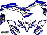2007 yfz 450 graphics - Senge Graphics 2003-2008 Yamaha YFZ 450 (Steel Frame), 13 Fly Racing Blue Graphics Kit