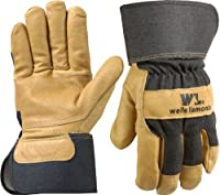Mens Grain Pigskin Leather Work Gloves