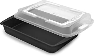product image for G & S Metal Products Company ProBake Teflon Xtra Non-Stick Bake and Roasting Pan with Matching Cover and Handles, White, 8.9 x 2.8 x 12.8 inches