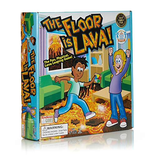 The Floor is Lava game is a fun indoor toy for active kids to play