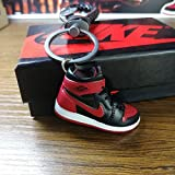 Keychain 3D Sneaker Car Keychain Big Kids Basketball Shoes Keyring for Men and Women Gift
