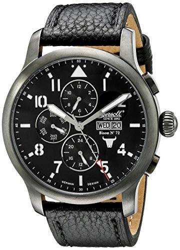Ingersoll Men's IN1221GUBK Bison No. 72 Analog Display Automatic Self Wind Black Watch