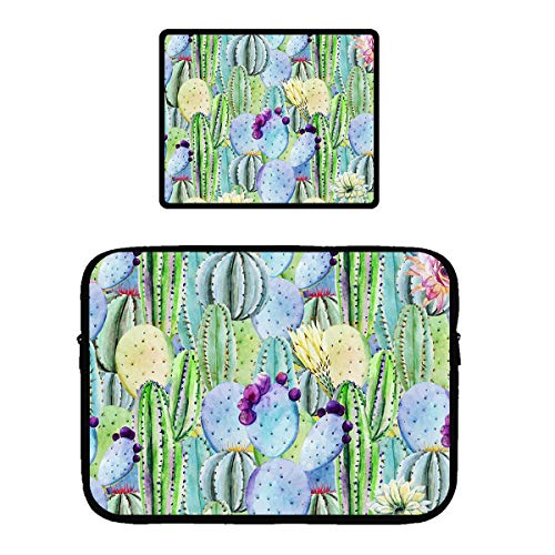 Zipper Sleeve Case for 115 inch MacBook Air Pro Anti-Scratch Microfiber Laptop Bag Dual Pocket with Locking Edge Mouse Pad Wilder California Prickly Pear Cactus