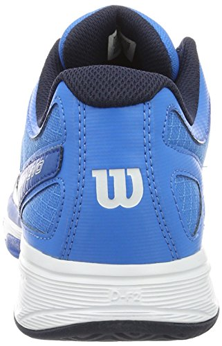 Wilson Rush Evo, Zapatillas de Tenis para Hombre, Azul (Brilliant Blue/Navy Blazer/Imperial), EU 44