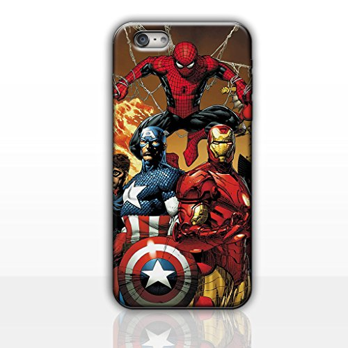 iPhone 5/5s Comic Hard Back Phone Case / Cover for Apple iPhone 5s 5 SE / Screen Protector & Cloth / iCHOOSE / Spiderman, Cpt America, Iron Man