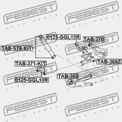 Febest TAB-368 LAGER F/ÜR HINTERQUERLENKER