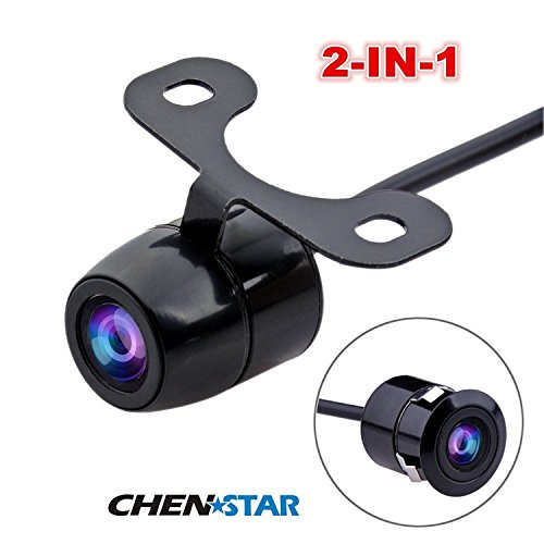 CHENSTAR Color CMOS CCD Flush Mount Waterproof Truck Car Reverse Backup Rear View Camera Night Vision Shockproof Two-in-One