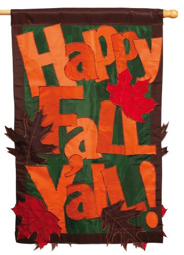 Evergreen 151309 Happy Fall Y'all 2 Sided Garden Flag, 44