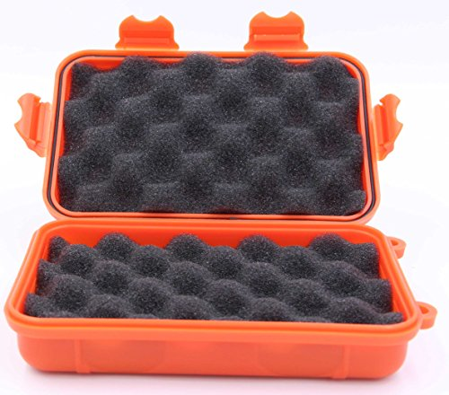 Anti-Pressure Shockproof Box- LeBeila Waterproof Container Plastic Dry Storage Box With Foam Floating Survivor Dry Case For Outdoors (Orange)