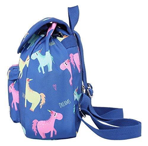 Tipo Solapa Miette cm 27x24x12 iPad Mochila Colorido pequeña Mini con Bolso Cabe un Unicornio TqTUEZa