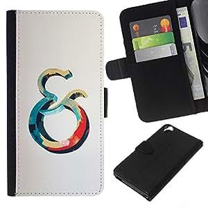 KLONGSHOP // Tirón de la caja Cartera de cuero con ranuras para tarjetas - Y Océano Azul Rojo Ballena Gris Amarillo - HTC Desire 820 //