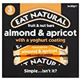 Eat Natural Fruit And Nut Bar With Almond Apricot And Yoghurt Coating, 3 X 50G