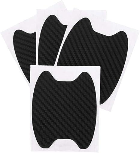 4pcs Auto Tür Griff Aufkleber Abdeckung Kratzschutz Schutzfolie Für Griffschalen Schwarz Auto