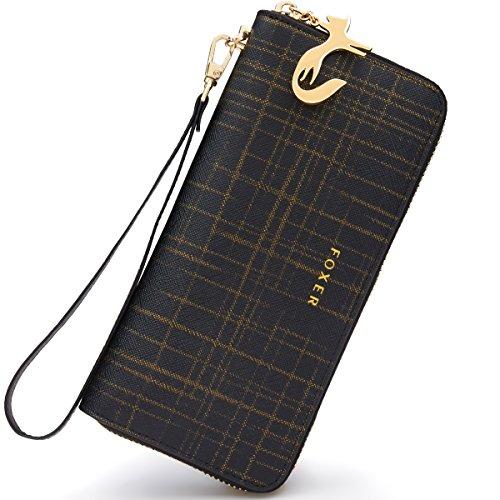 Women Fashion Leather Bifold Wallet (Black) - 4