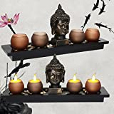 1pcs Thai Buddha Head Ornament Resin Candle Holders Set Buddhism Meditation Statue Candlestick Tray Stones Home Decoration Gifts Katoot