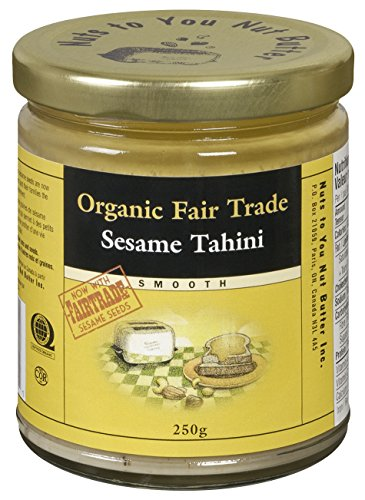Nuts to You Nut Butter Organic Fair Trade Sesame Tahini - Smooth, 250 (Fair Trade Nut)