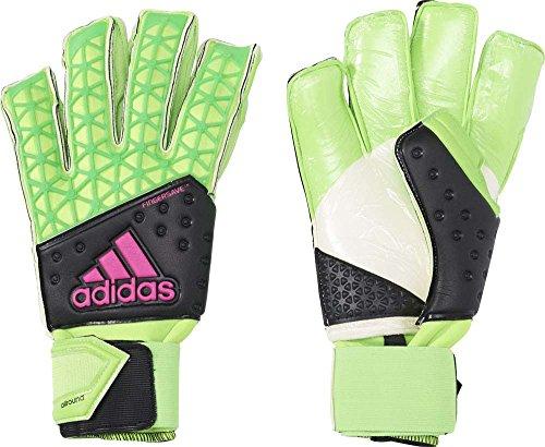 adidas Herren Torwarthandschuhe Ace Zones Fingersave Allround, Solar Green/Core Black/Shock Pink S16/White, 10.5, AH7807